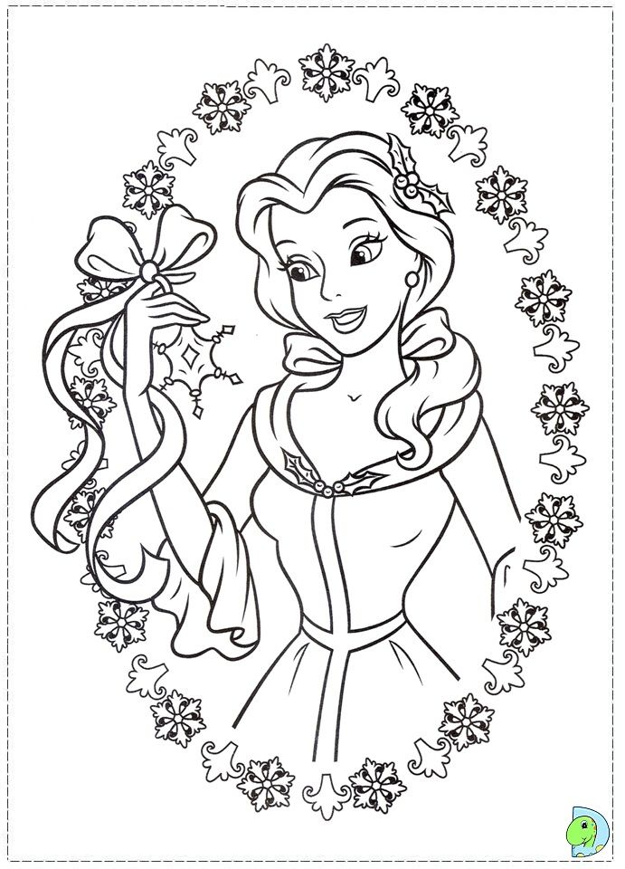 Christmas Disney Princess Coloring Page Dinokids Org Disney Princess Coloring Pages Disney Coloring Pages Princess Coloring Pages