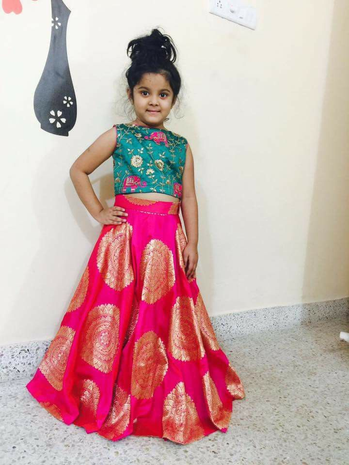 c25f4ea09bd0e Kids pattulanga -Indian dresses http   goo.gl fCKqJr Frocks For