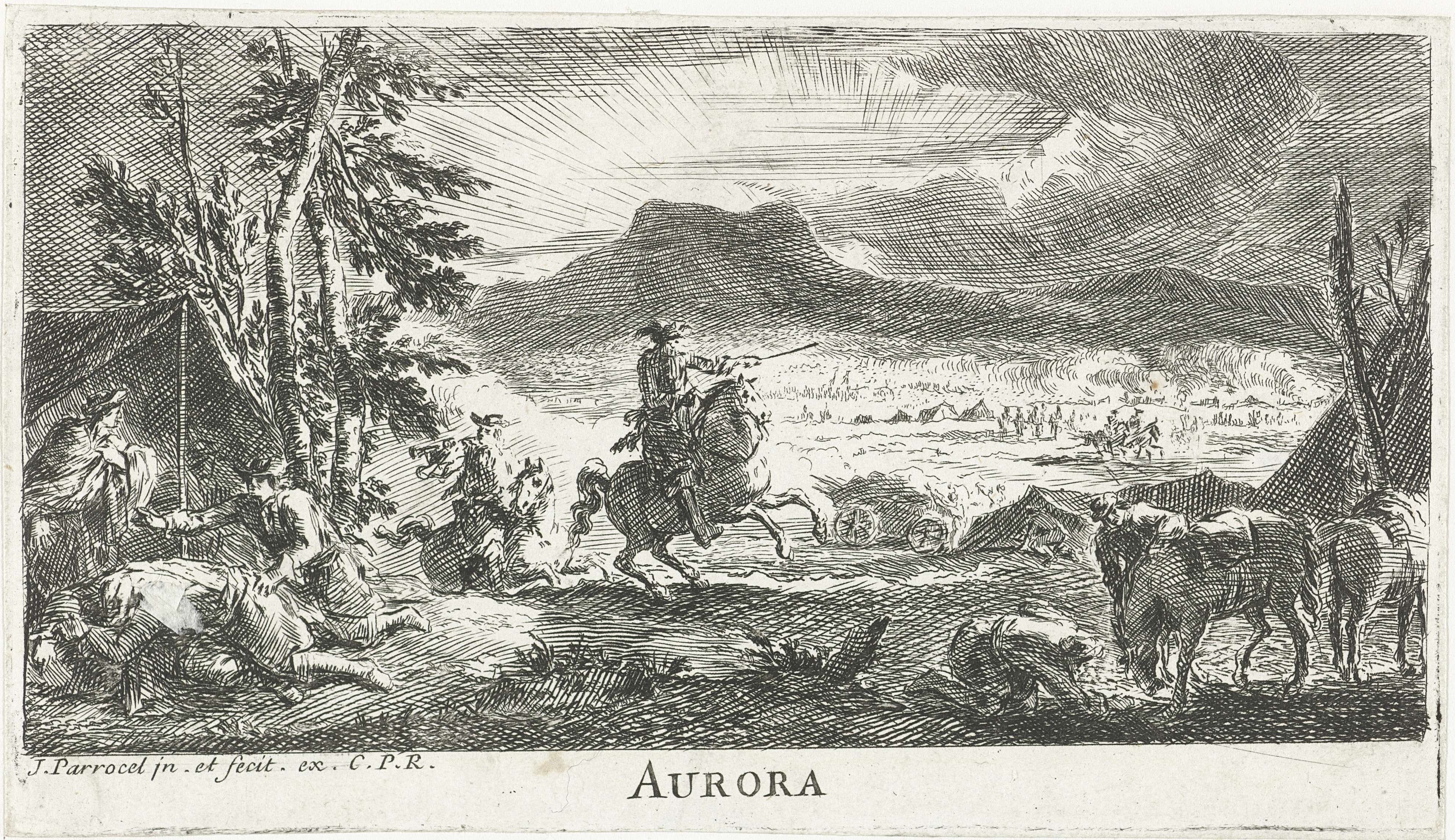 Ochtend, Joseph Parrocel, 1656 - 1703