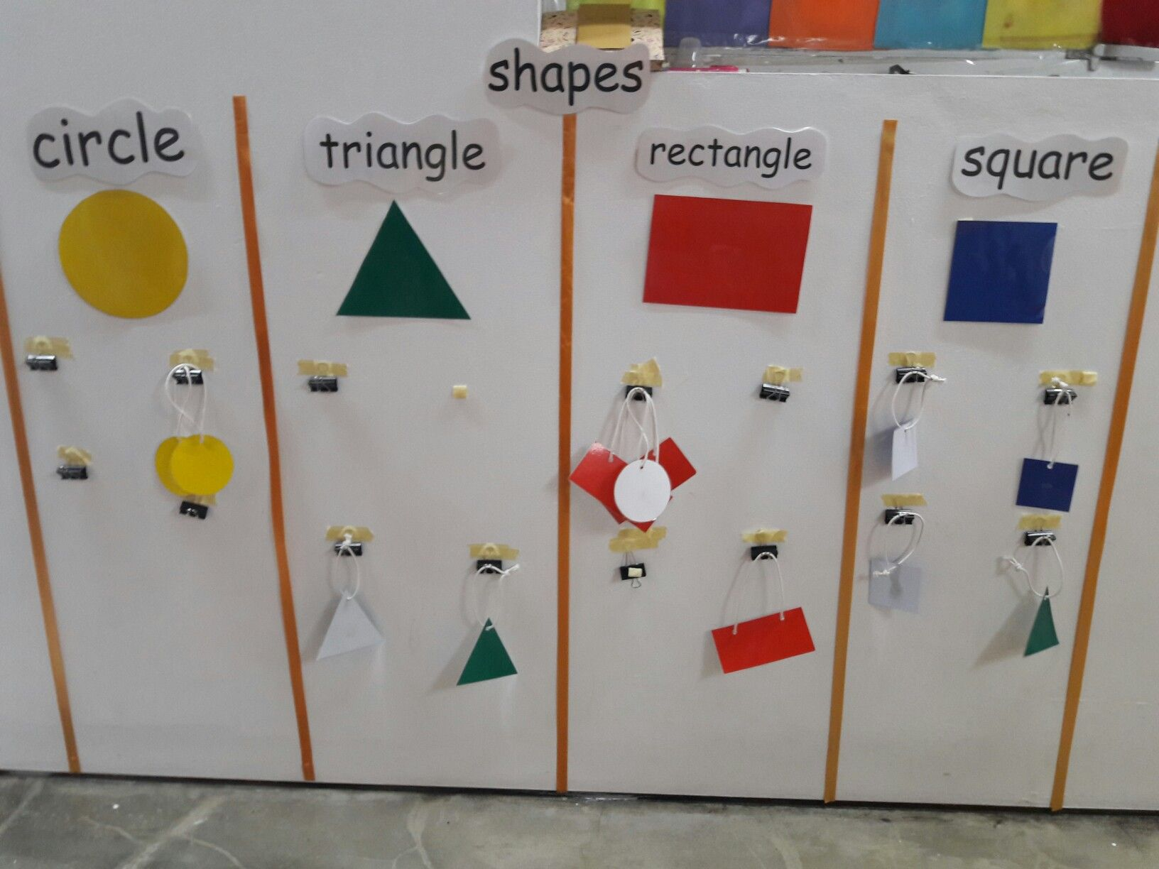 Made this for toddlers to expose them with shapes and colors