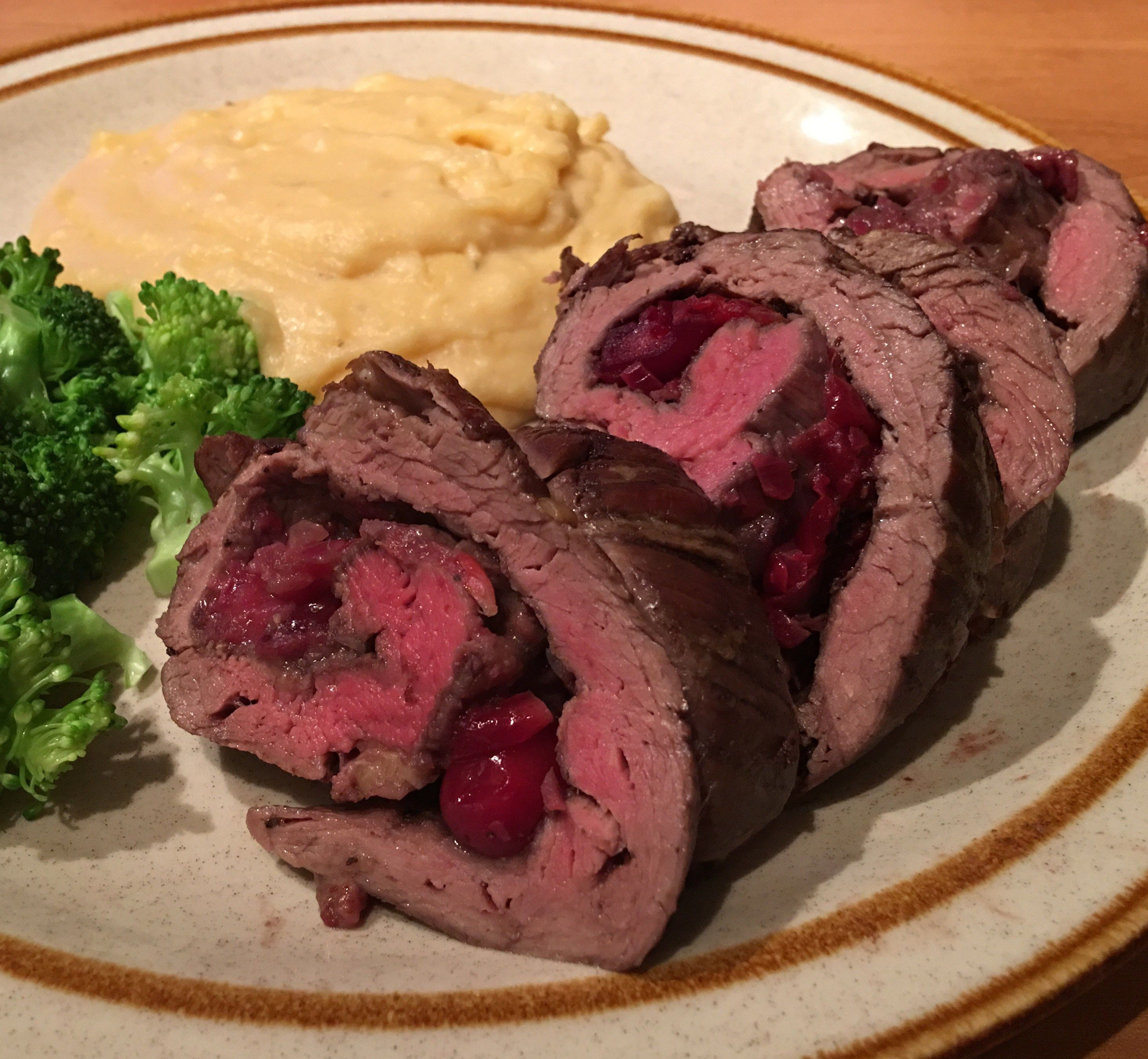 Cranberry Stuffed Beef Tenderloin With Red Wine Sauce Beef Tenderloin Recipes Tenderloin Recipes Red Wine Sauce