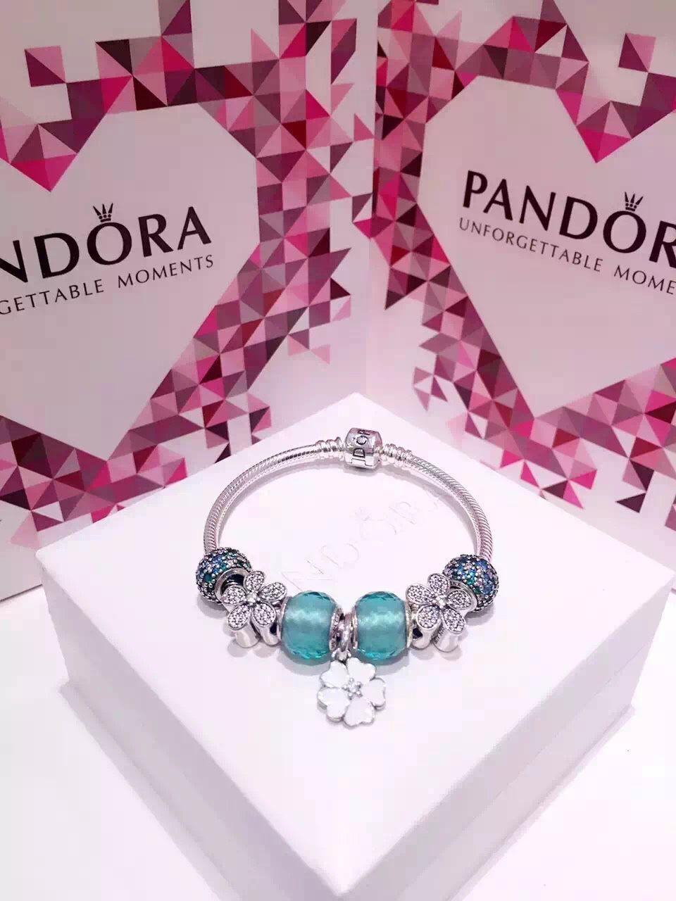 50% OFF!!! $199 Pandora Charm Bracelet Green White. Hot Sale!!! SKU ...
