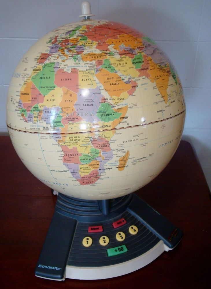 ExploraToy GeoSafari World Talking Quiz Globe $34.99 Free Shipping!