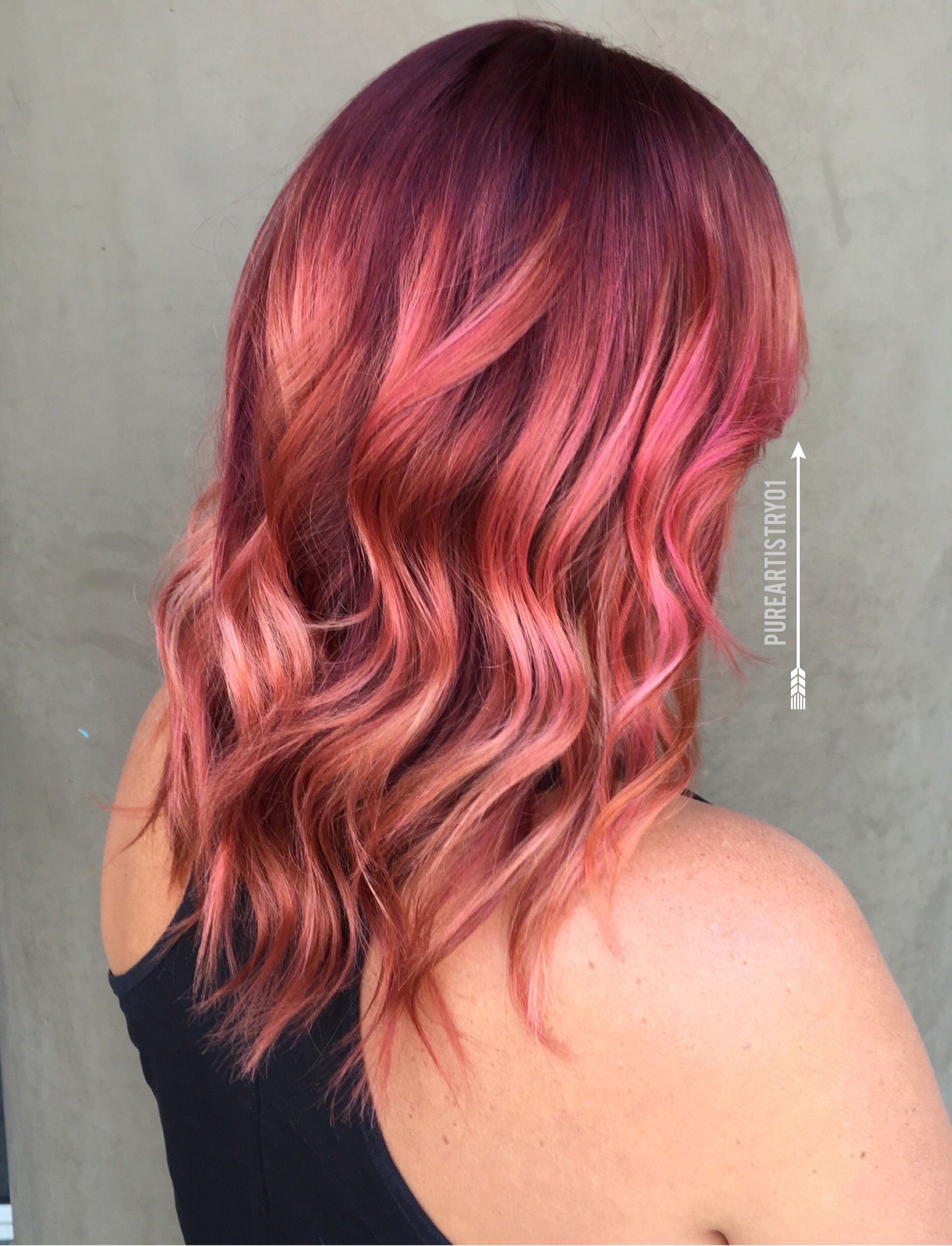 Rose gold hair 2016 fall hair color hairbywendywalker balayage