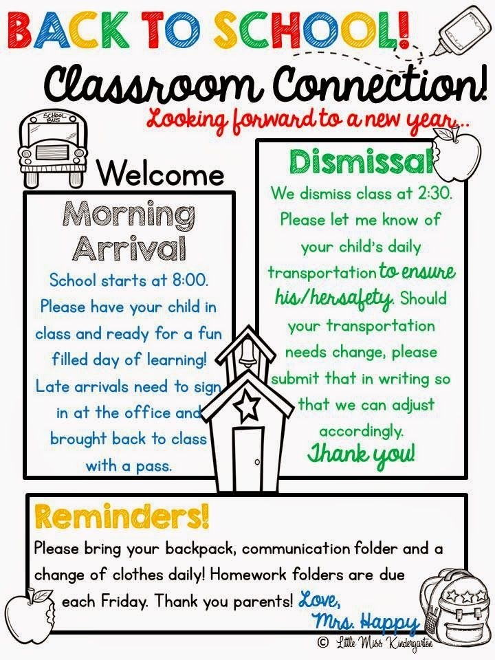 Meet The Teacher  My Classroom    Teacher Newsletter