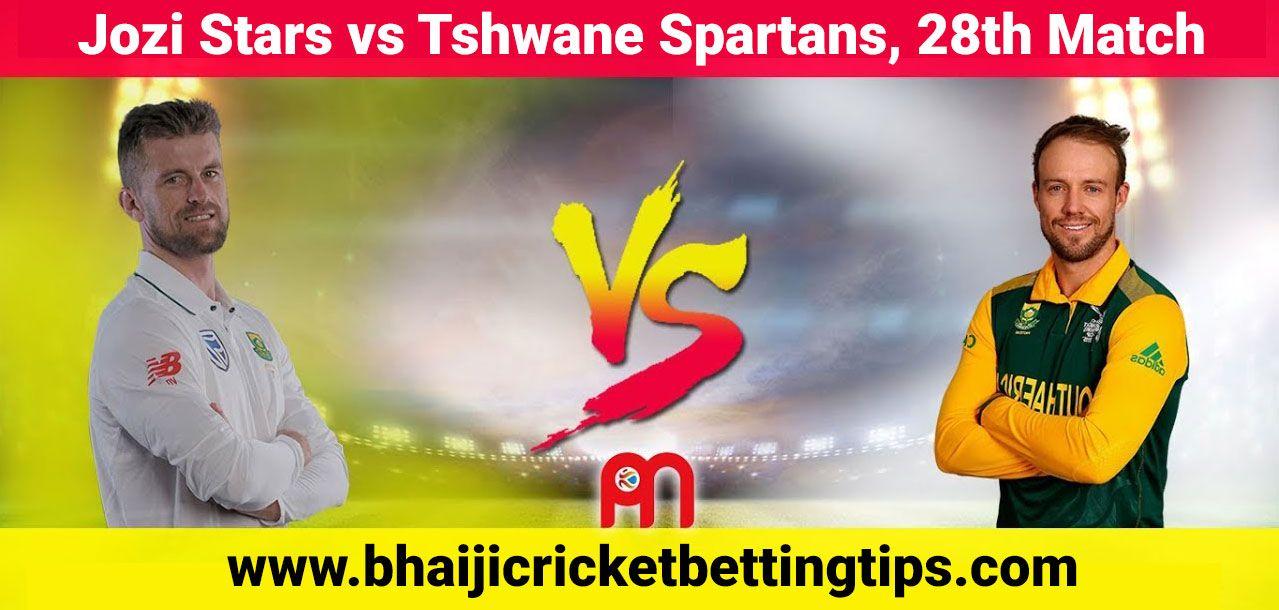 Jozi Stars vs Tshwane Spartans, 28th Match Cricket