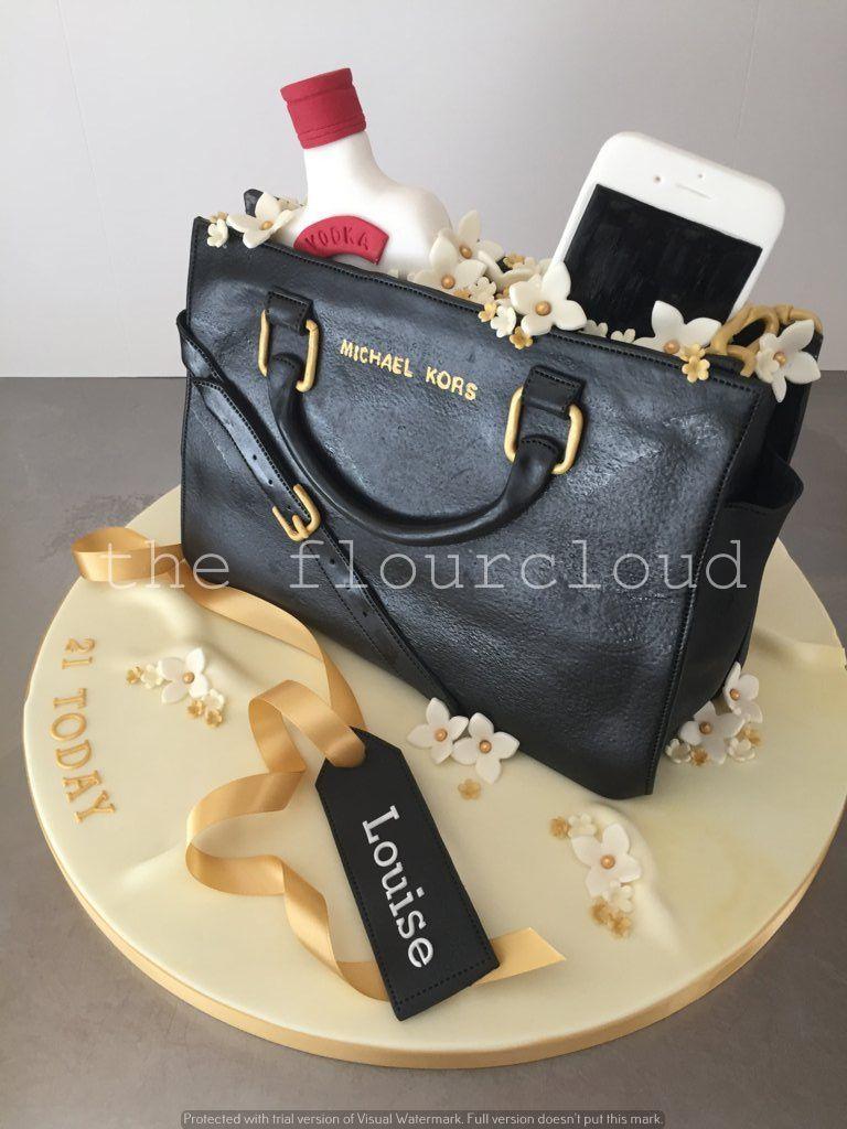 Fabulous Michael Kors Handbag Birthday Cake Sugar Coated Cake