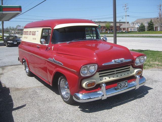 1958 Chevy Panel Truck Panel Truck Chevy Chevrolet Trucks