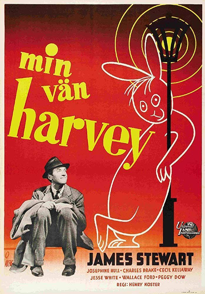 James Stewart and Harvey in Harvey (1950) | Movie posters ...