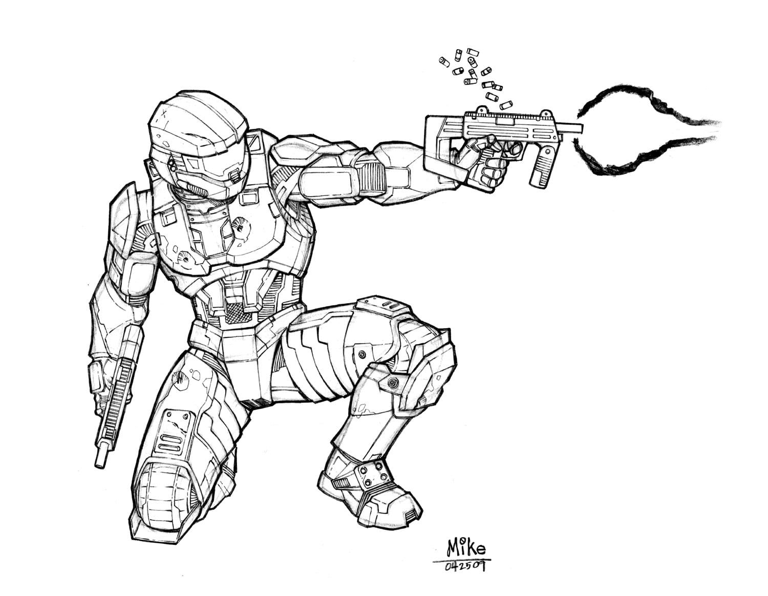 Halo Master Chief Coloring Pages Halo Drawings Halo Master Chief Halo Armor