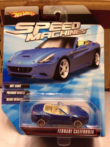 2010 Hot Wheels Speed Machines Ferrari California Blue Moc With