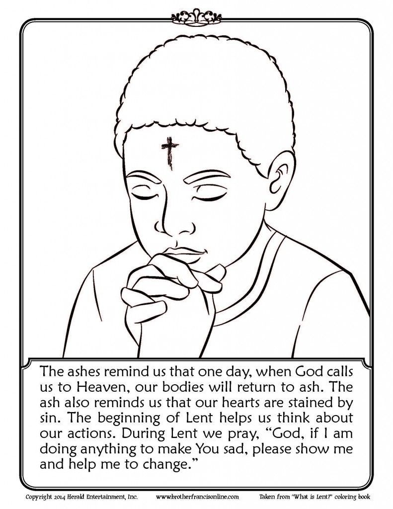 Free Coloring Page AshWednesday Lent