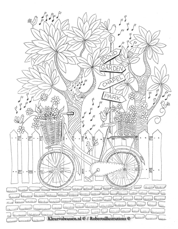 Https Kleurenvoorvolwassenen Files Wordpress Com 2017 01 Whimsicalworldfreebie Jpg Kleurplaten Kleurboek Kleuren