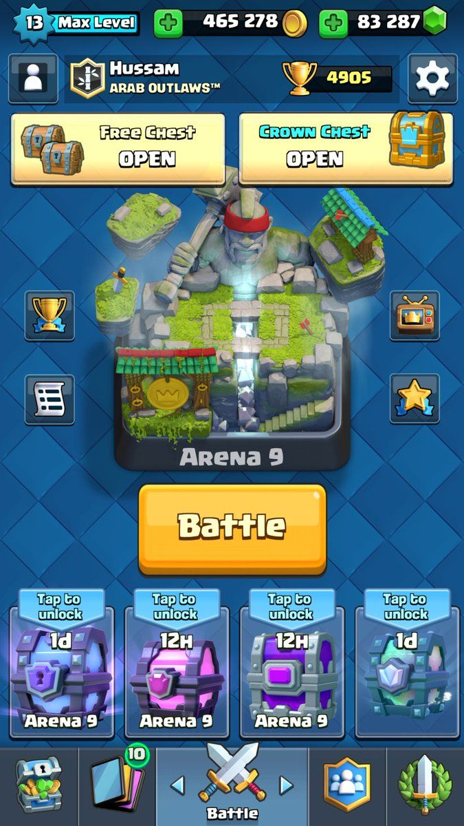 This Free Book Is The Biggest Guide In The Network Where You Can Find Top Strategy Decks And Tips Of Clashroyale Arena Http Ift The Network Cofre Clash On
