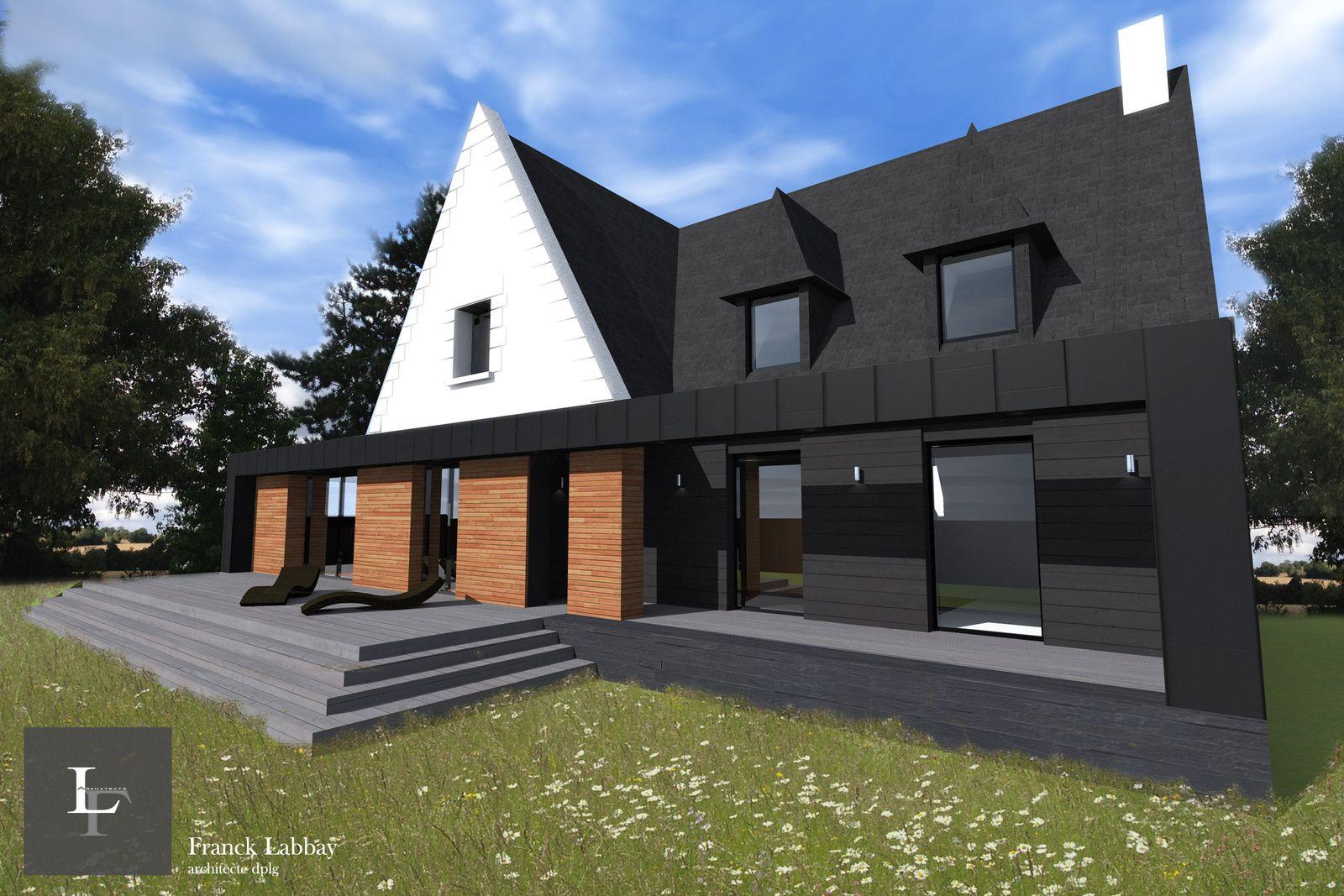 Renovation Longere Bretonne #9: Maître Du0027ouvrage : Privé Architecte : Franck LABBAY Opération : Extension  Et Rénovation Du0027une Maison Néo-bretonne Surface De Plancher Construite :