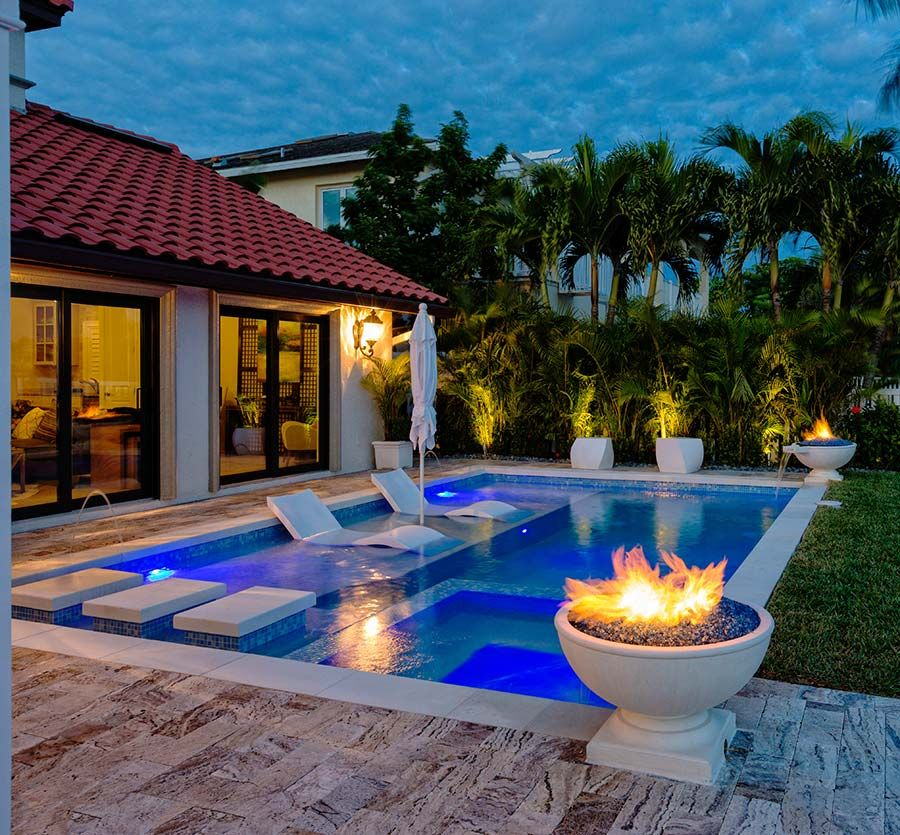 Delightful and affordable fire pit decoration designs in for Outside pool designs
