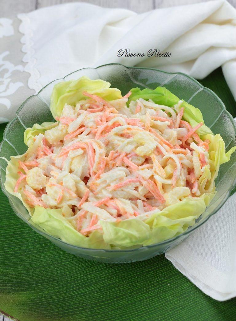 Photo of Insalata con polpa di granchio (Surimi) e salsa allo yogurt – Piovono Ricette
