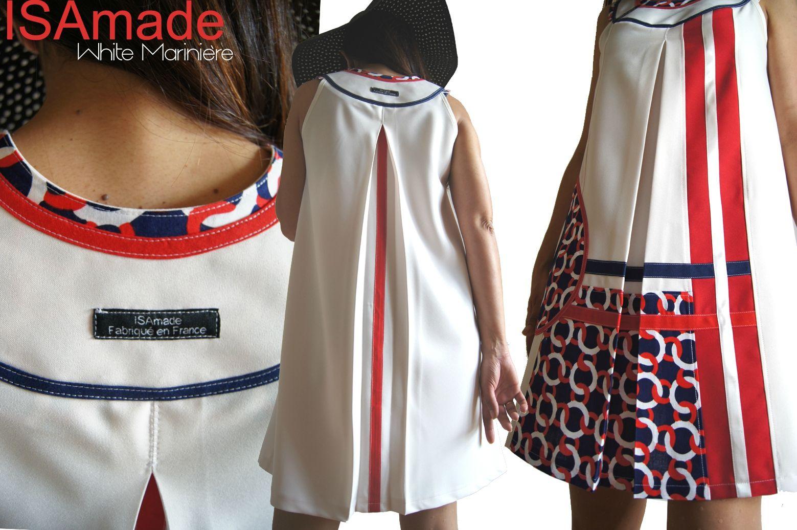 35552f93d5e Robe trapèze Imprimé été Blanc écru Graphique