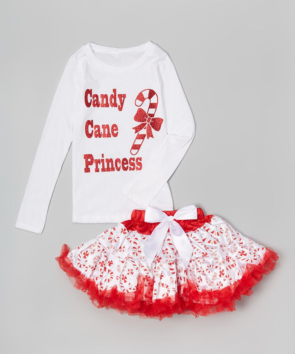 Look at this White \'Candy Cane Princess\' Tee & Tutu - Infant ...