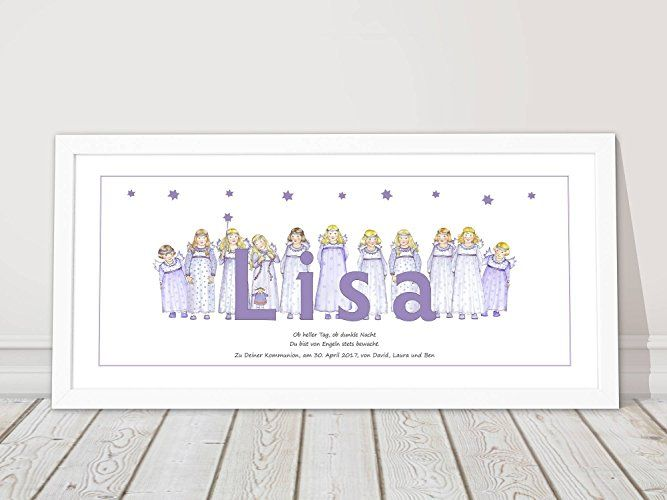 Babygeschenk zur Geburt Taufgeschenk mit Taufspruch Geburtstag Babygeschenk Junge Mädchen Namensbild personalisiert Geburtsgeschenk Schutzengel Bild mit Namen erster Geburtstag