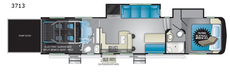 New 2020 Heartland Cyclone 3713 Toy Hauler Fifth Wheel At Arbogast Rv Troy Oh Rv8901 Toy Hauler Rv Dealers Used Rv For Sale