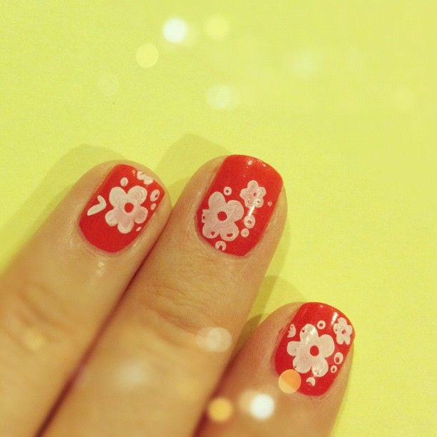 Cherry Blossom inspired nails. Full review post coming ...