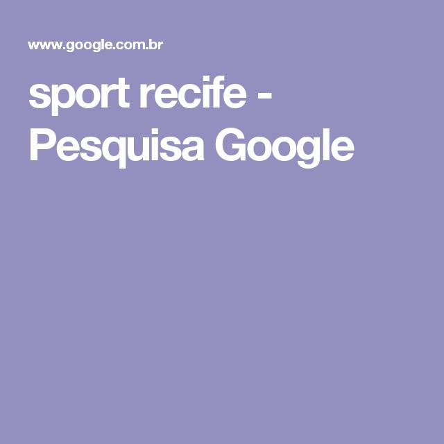 sport recife - Pesquisa Google