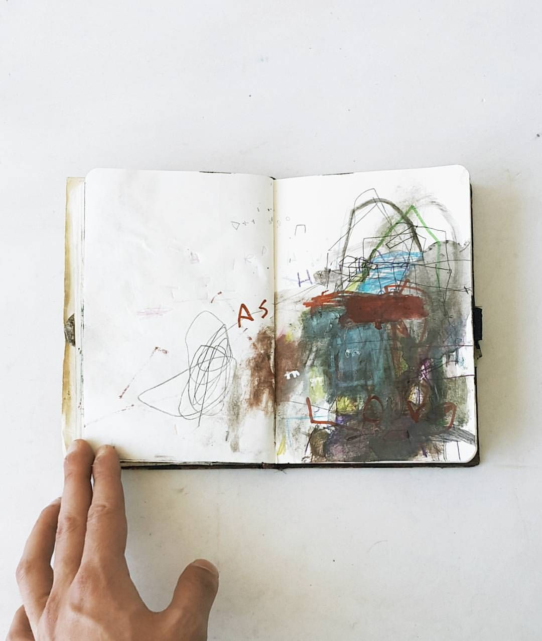 Mark making sketchbooks by Eser Gunduz