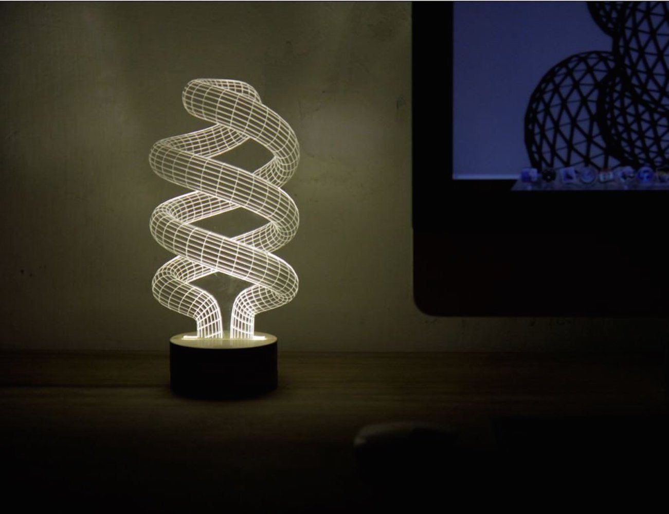 Spiral Bulbing Optical Illusion Led Lamp Led Lights Lamp 3d Illusion Lamp