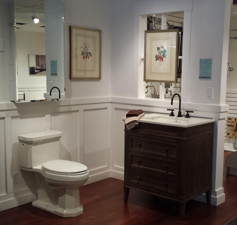 Ronbow Laurel Vanity With California Faucets Tap Kohler Kathryn Toilet And Century Bathworks Medicine