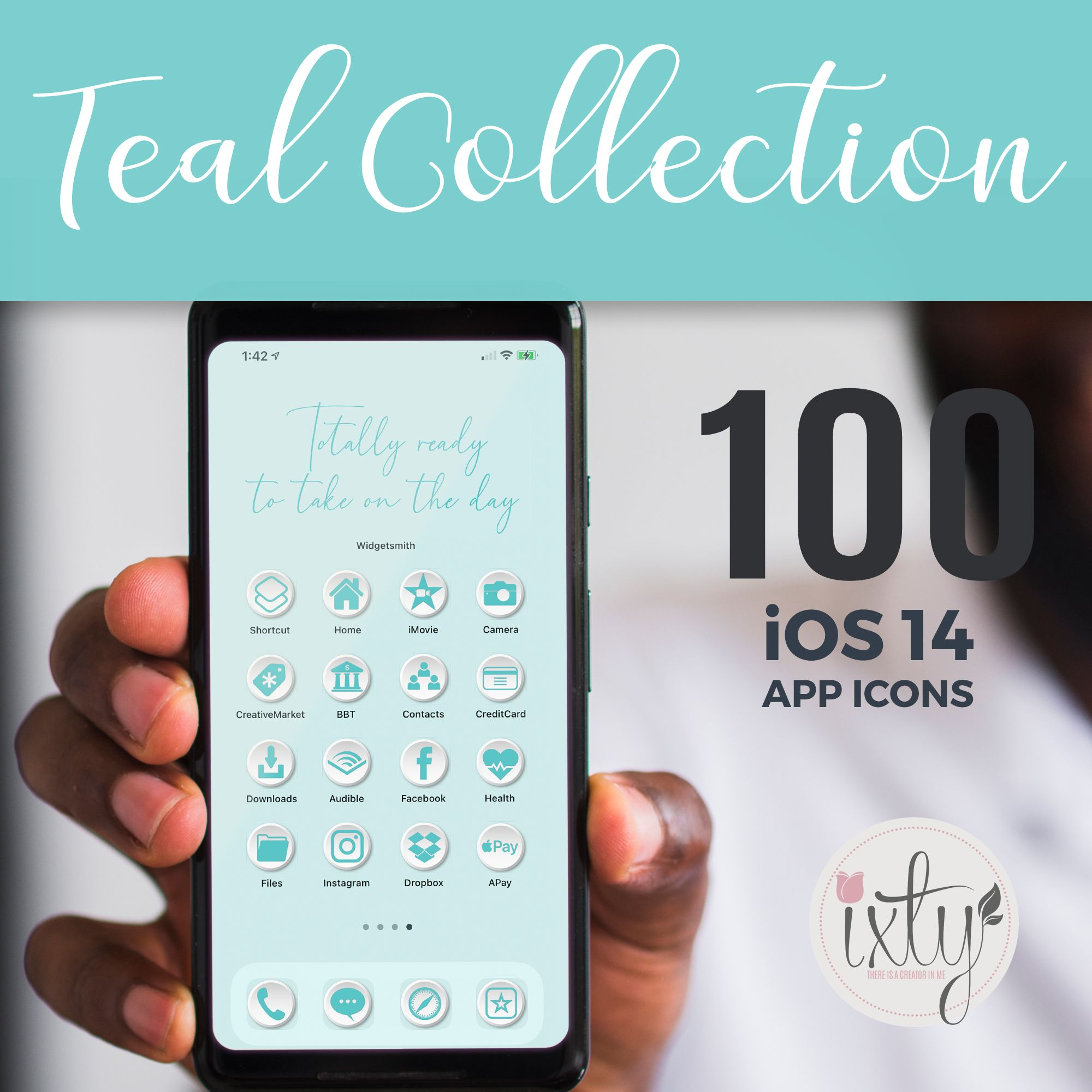 Teal Ios14 App Icons Iphone Icon Homescreen Icons Etsy In 2020 App Covers Iphone Apps Cover App