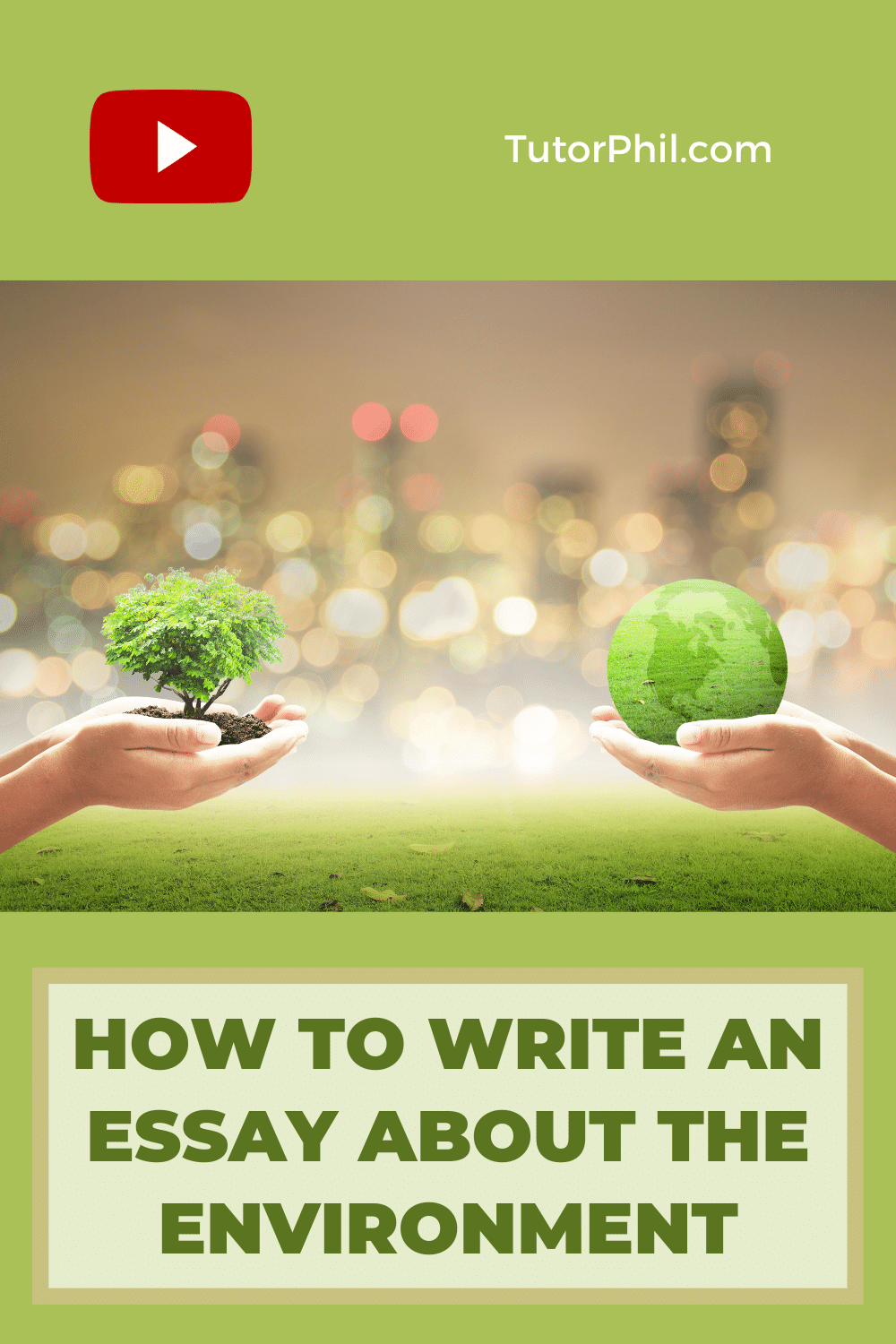 How To Write An Essay About The Environment Writing Skill On Green