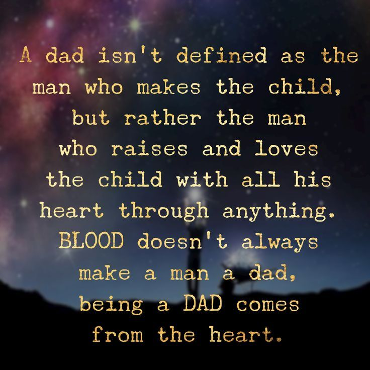 Image result for the quote blood does not make a father