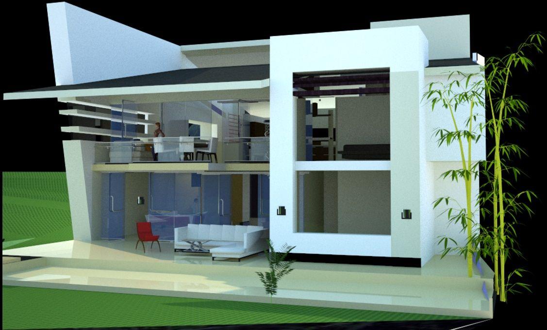 Fachadas modernas minimalistas casas contemporaneas for Fachadas contemporaneas