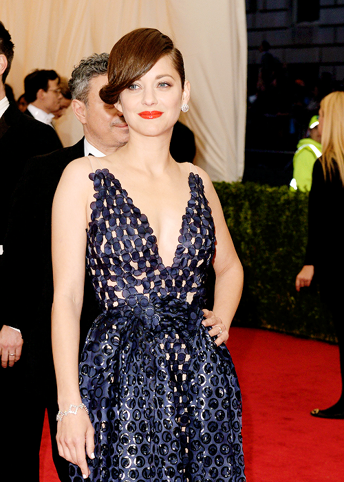 Marion Cotillard at the Costume Institute Gala at the Metropolitan Museum of Art on May 5, 2014