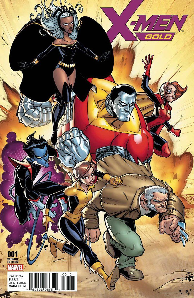 X Men Gold 1 Variant Cover By Bloodzilla Billy On Deviantart X Men Comics Comic Book Covers