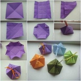 DIY Paper Gift Box is part of Origami gift box, Origami gifts, Paper gifts, Origami crafts, Diy paper, Christmas origami - This paper gift box is beautiful  They are perfect for small items