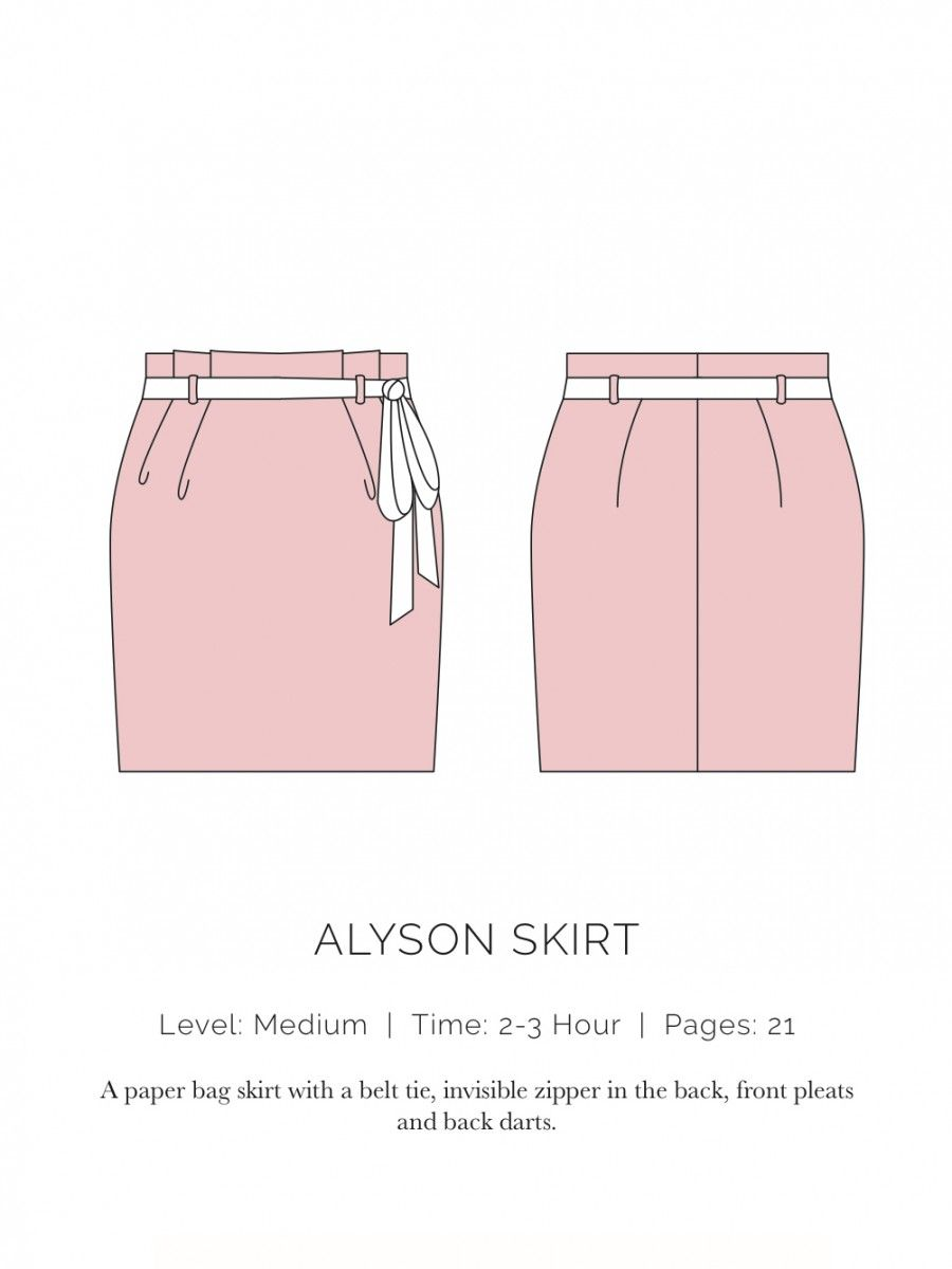 Alyson Skirt Flat - Spit up and stilettos   D I Y Flats Drawing ...
