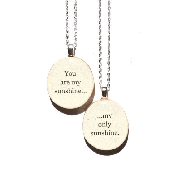 You are my sunshine necklaces kid inspiration jewelry love mother daughter necklace set mother child gift going away gift mothers day jewelry aloadofball Image collections