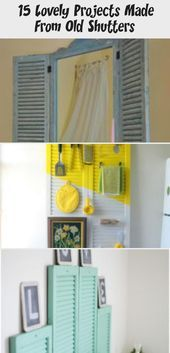 Photo of Bathroom mirror with vintage shutters #shabbychicdecorBabyShower #shabbychicdeco…
