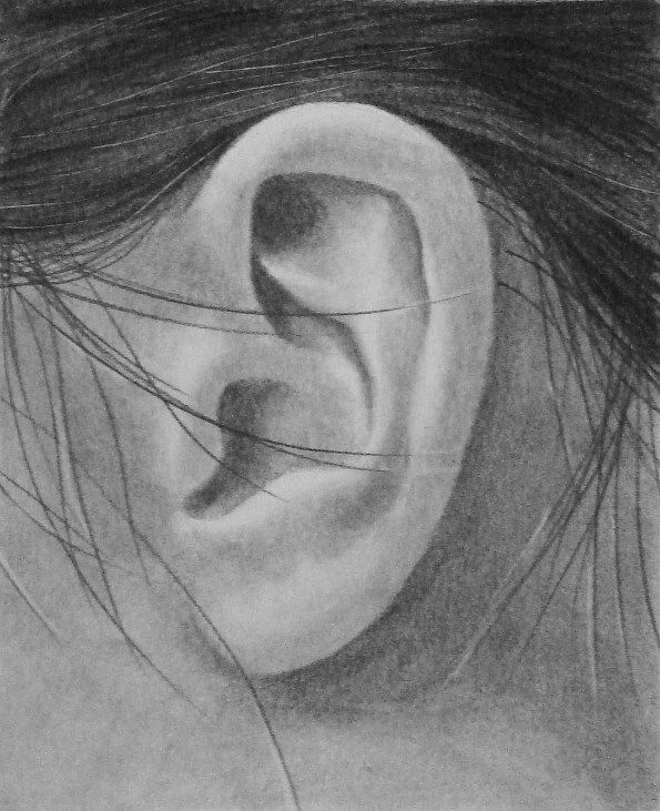 how to draw ear in pencil | Portraits | Pinterest
