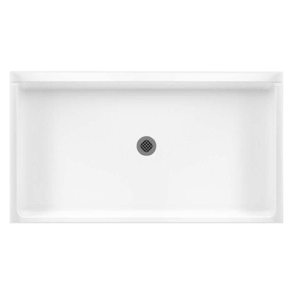 Swan 32 In X 60 In Solid Surface Single Threshold Center Drain