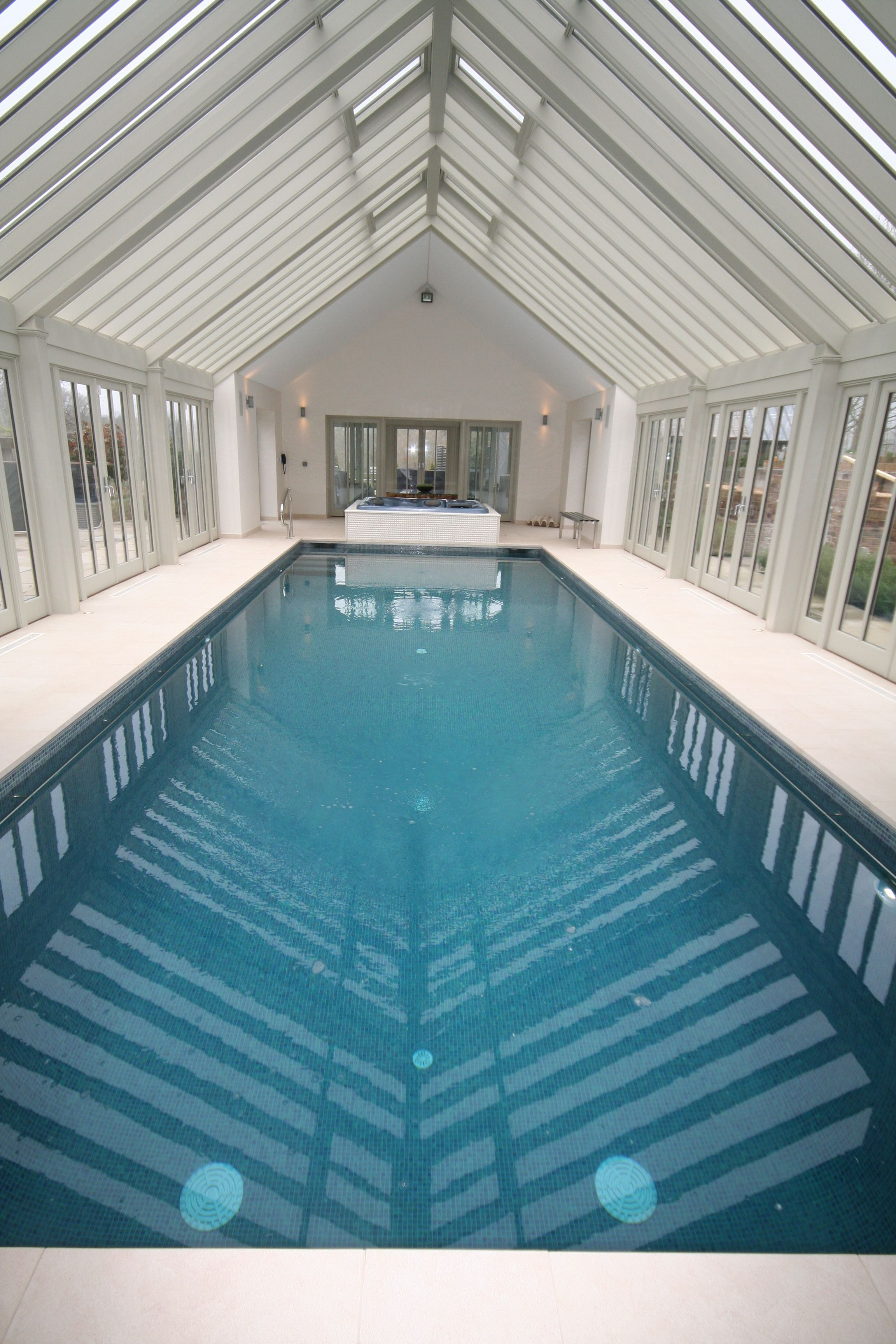 Glass House pool and spa Indoor Pools Pinterest House pools