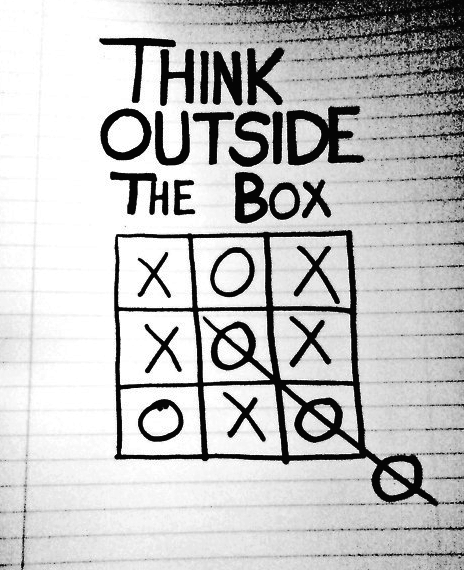 Think Outside the box #concept #quote #creatividad