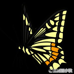 アゲハチョウ 黄 のイラスト イラスト アゲハ蝶 蝶