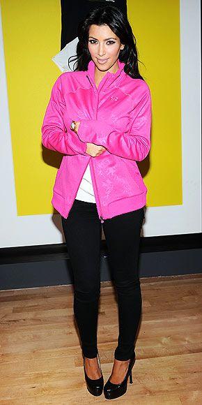 7e3b2de0fad64a Kim Kardashian wearing Yves Saint Laurent Tribute Double Platform Pumps 7  for All Mankind Gwenevere Super Skinny Knit Pants in Black Nike Demo High  ...