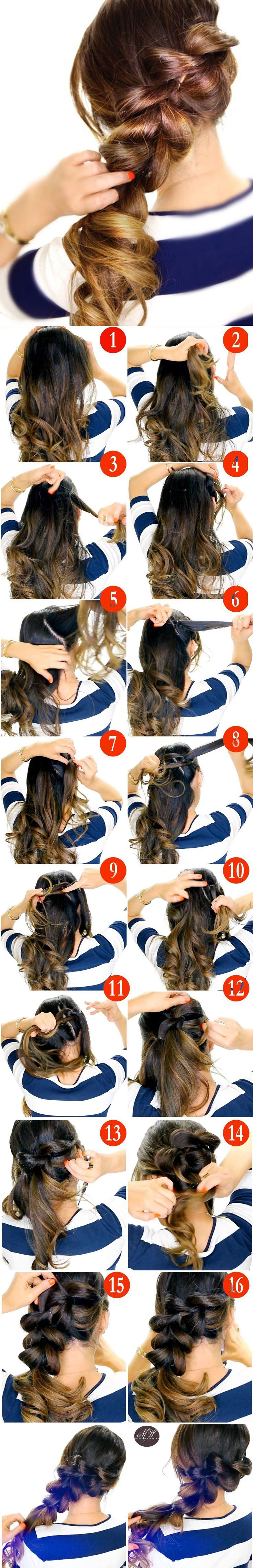 How to pony braid pull through braid haar pinterest pony