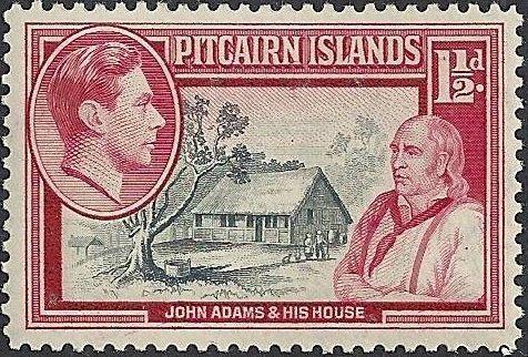 Image result for john adams pitcairn islands stamps
