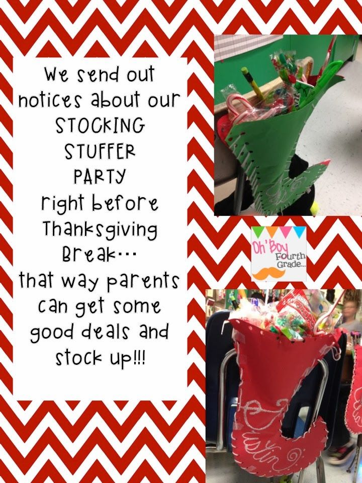 4th Grade Christmas Party Ideas Part - 18: Ohu0027 Boy 4th Grade: Stocking Stuffer Party