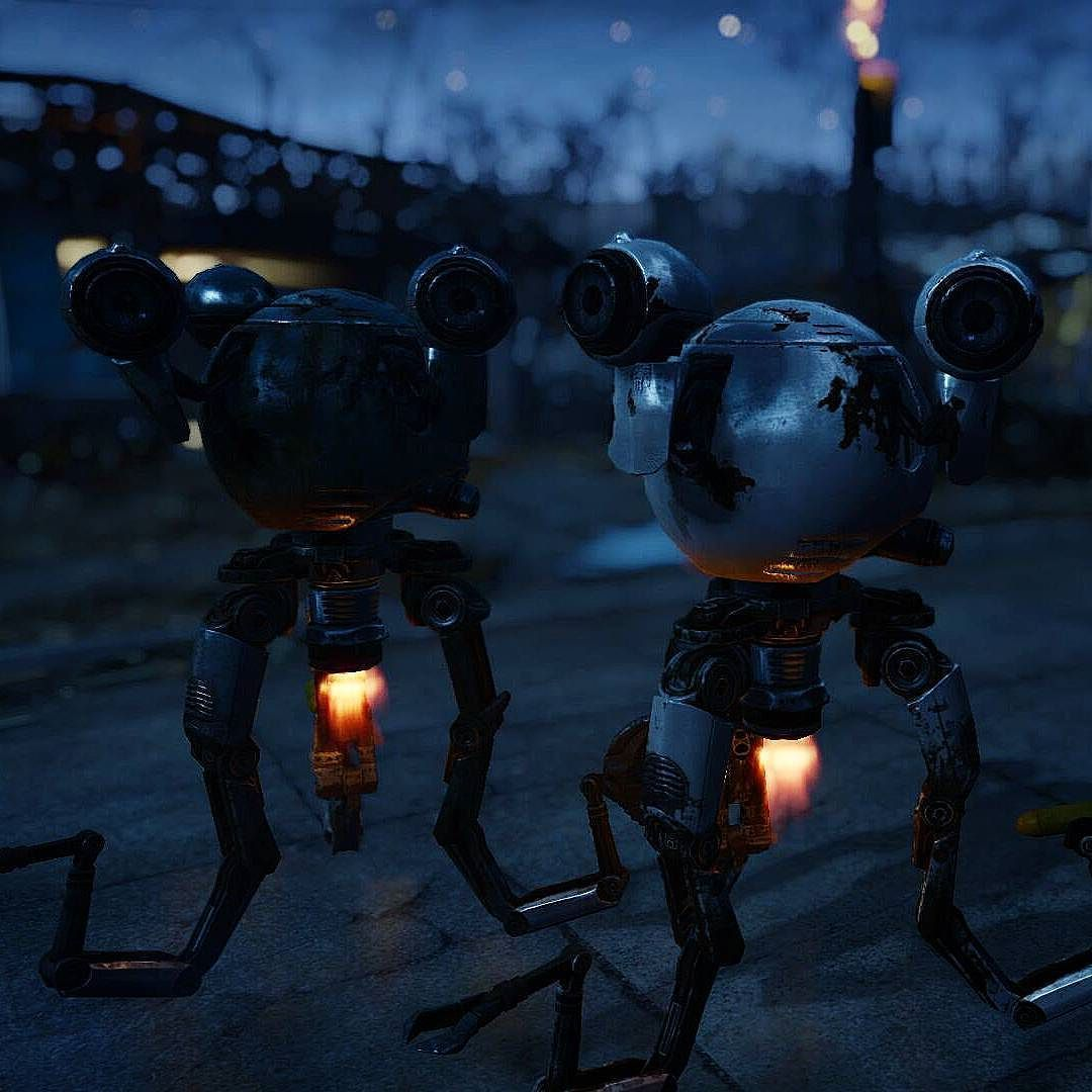 Fallout RPG  -  Codsworth and Curie aren't they cute #robots #Fallout #enb